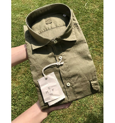 camicia cotone verde