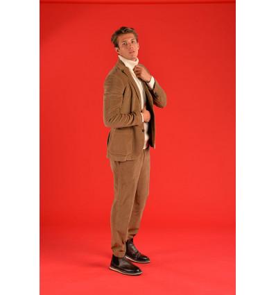 Pantalone tailored cordur cachi